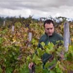 Giuseppe Russo of Girolamo Russo in his vineyard