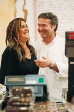Danielo Vestri and wife Stefania, working in their Arezzo shop