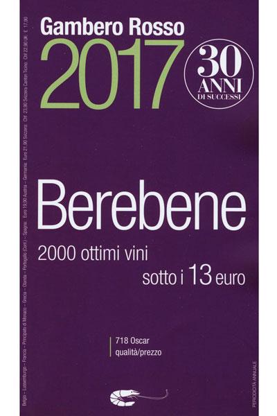 Gambero Rosso Berebene 2017 value wine guide on dalluva.com